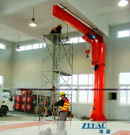 Çin ISO Approval Slewing Workstation Jib Boom Crane For Plant Building Maintenance Fabrika